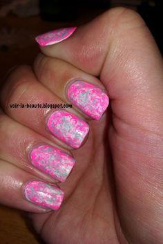 Neon Nails #NailArt Tissue Nail Art Tutorial
