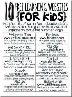 Web learning  for kids