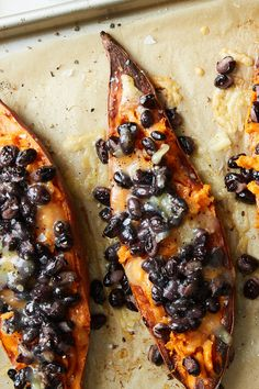 Loaded Sweet Potatoes With Black Beans and Cheddar Recipe - NYT Cooking