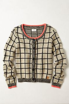 Retro Grid Cardi #anthropologie