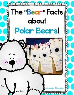 """The """"Bear"""" Facts About Polar Bears Freebie! Fun craft and writing activities for polar bear studies. I included several options for writing depending upon the skill level of your students."""