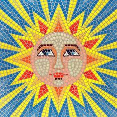 mosaic patterns | ... inspiration for my first mosaic project is this beautiful Sun Mosaic