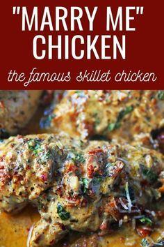 Chicken Skillet Recipes, Chicken Flavors, Quick Chicken Dinner Recipes, Chicken Dinner Meals, Best Dinner Party Recipes, Chicken Dinner For Two, Romantic Dinner Recipes, Romantic Meals, Dinner Ideas