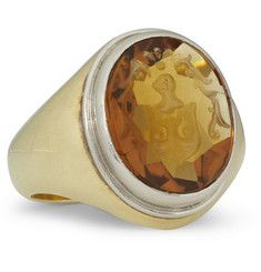 Foundwell 14-Karat Gold, Sterling Silver and Citrine Ring | MR PORTER