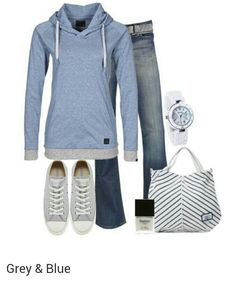 Nice casual fall outfit.  I like it all.