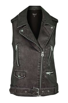 Sleeveless Faux Leather Biker Jacket - Topshop