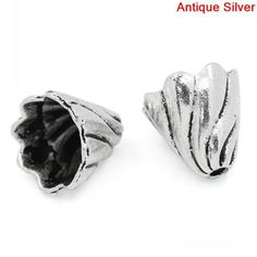 "Retail 50PCs Antique Silver Flower Spacers Beads Caps 12x13mm(4/8""x4/8"")"