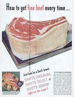 Swift's Premium Beef Roast 1947 Ad Picture