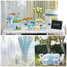 Outdoor baby shower (boy) <3
