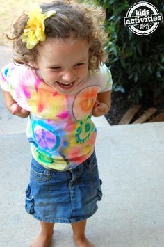 Fun way to color a shirt {Preschool craft}