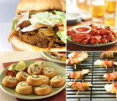 4 favorite superbowl recipes  ■Pulled Pork Sandwiches topped with Tangy Coleslaw (recipe)   ■Franks Hot Buffalo Chicken Wings (recipe)   ■Chicken, Jalapeno, Cream Cheese Crescent Pinwheels — a HUGE hit! (recipe)   ■Cream Cheese stuffed Jalapenos wrapped in Bacon
