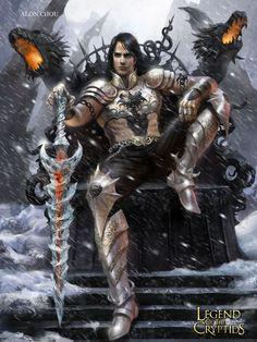 Artist: Alon Chou - Title: Frozen Tyrant Ghanon - Card: Frozen Tyrant Ghanon