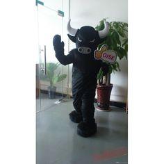 Actual Black Bull Buffalo Mascot Costume Plush Costumes