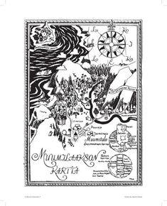 Muumi juliste, Muumilaakson kartta, 24x30cm