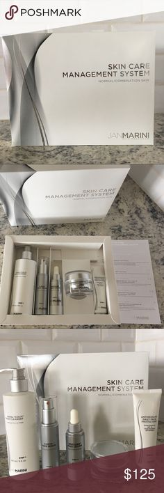 Jan Marini - Skin Care Management System Normal/ Combination Skin. Full 5-piece kit. I used the kit for two weeks, but it didn't end up working for my skin chemistry. All products are still 3/4 full. The 4th photo shows how much product is left. Originally purchased in April '17. Product expires 10/2018. Jan Marini Other