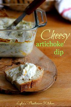 Cheesy Artichoke Dip ~ Lydia's Flexitarian Kitchen