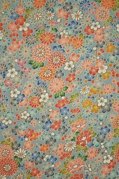 RARE Yuzen Floral Vintage Japanese Tango chirimen by CosimaOrimono