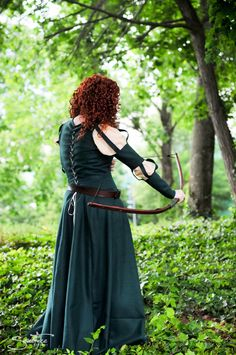 Gorgeous Adult Merida Costume from Brave. $350.00, via Etsy. -- GAAAH I WANT IT. It looks JUST like the one in the film!
