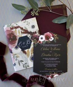 Burgundy & Navy Wedding Invitation Vellum Wrap Watercolor Flower Hexagon Die Cut Seal Bold Modern In Trendy Wedding, Wedding Ideas, Wedding Shit, Wedding Crafts, Floral Wedding, Wedding Colors, Wedding Stuff, Wedding Planning, Dream Wedding