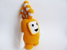 This cute Oddbod Bubbles toy is perfect for the little fans which we try so hard to make happy. This yellow friend is a wonderful gift for any occasion and is bound to put a smile on the face of anyone who receives it. Its perfect for cuddles and hugs.  This Oddbod is made with Alize Lanagold yarn (49% Wool and 51% Acrylic), craft felt, fiber fill and a bit of textile glue (UHU Textile Glue).  Its 32cm tall.  Im offering free shipping only for the USA and European Union.  Since the product…