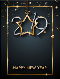 new year banner background 2019 for invitation
