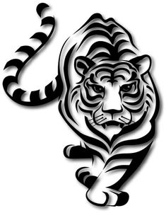 Animal Stencil, Stencil Painting, Fabric Painting, Tatoo Tiger, Tiger Silhouette, Tiger Art, Stencil Designs, Art Drawings Sketches, Pyrography