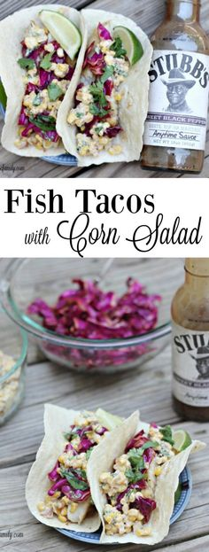 Love fish tacos, but you've never felt comfortable making them before? These Fish Tacos with Corn Salad are the easiest fish tacos EVER and they taste amazing! #ad #saucemaster: