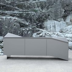 Sideboard with laminate or lacquered wooden frame, with 3 doors, curve