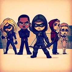 Cartoony Team Arrow