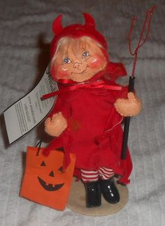 "Annalee 8"" Trick or Treat Devil Kid Halloween 202107  #Annalee #Dolls"