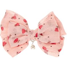 Mini Pink Floral Double Bow Hair Clip (335 RSD) ❤ liked on Polyvore featuring accessories, hair accessories, floral hair accessories, pink hair accessories, rhinestone hair accessories, barrette hair clip and rhinestone hair clips