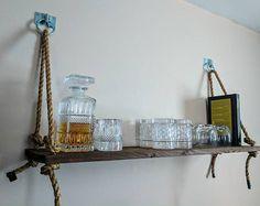 Schwimmende Jute Schnur Seil Regal zurückgefordert von TVPShop Rope Shelves, Recycled Materials, Jute, Decorating, Wall, Furniture, Design, Home Decor, Twine
