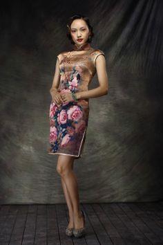 Top Designers Silk Short Cheongsam Dress Orange - $509 - SKU: 068408 - Custom Now: http://elegente.com/redshop.html #REDPALACE #Cheongsam #Qipao