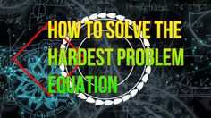 How To Solve The Hardest Problem Equation Of The Whole World Clear Browsing Data, Equation, Watch, World, Check, Fun, The World, Clock, Systems Of Equations