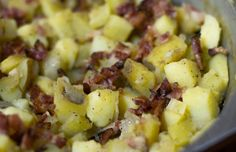 German potato salad with bacon two ways