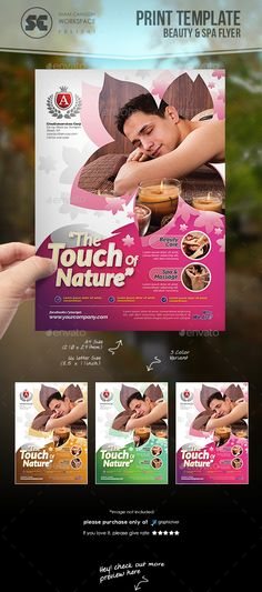Beauty And Health Flyer Template PSD