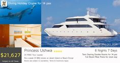 PRINCESS USHWA 6 Nights 7 Days - #Diving #Holiday #Cruise #Tour #Package for 14 Pax DBL Twin Sharing for 14 pax for total stays FB- Full Board meal plane is included for 14pax for total stays. For more info please contact info@zeldiva.com