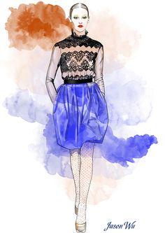 jason wu dress fashion illustation