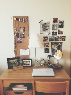 I love how this typical #dorm room desk has been personalized. Even if you don't have great looking furniture, you can still make your study space look and feel great!