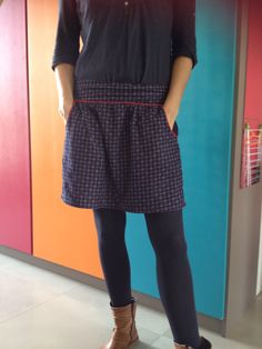 Une jupette pratique et agréable à porter pour l'hiver ! Le tuto couture de cette jupe en cliquant sur le lien