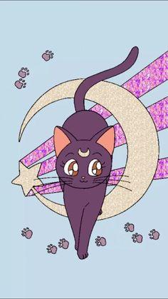 Resultado de imagen para luna sailor moon cat