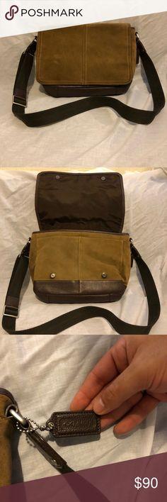 Men's Coach messenger bag Men's coach, suede and brown leather messenger bag. Coach Bags Crossbody Bags