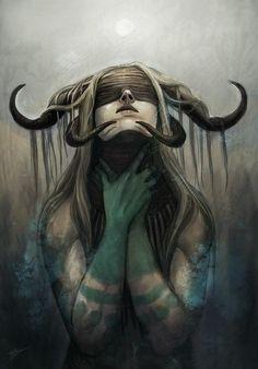 Dark Gothic Art, Dark Fantasy Art, Fantasy Artwork, Fantasy Character Design, Character Art, Evil Art, Dark Art Drawings, Amazing Drawings, Arte Obscura
