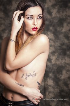 #fashion #model #redlips #tattoo #glamour #sensual ©francescosgherri.photography