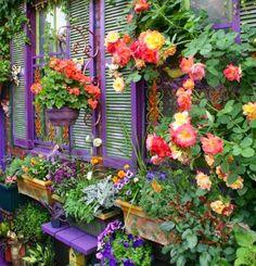 Cozy Little House: Purple In The Garden