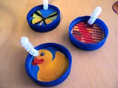 A Little Learning For Two: Bottle Lid Necklace (threading) Letter N Activities, Diurnal Animals, Light Games, Painted Boxes, Matching Games, Colored Paper, Threading, Fine Motor, Bubbles