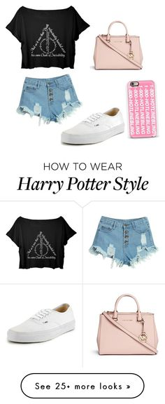 """""""Untitled #43"""" by emilyo12329 on Polyvore featuring Vans, WithChic, Michael Kors and Casetify"""