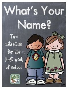 What's Your Name, Activity for the First week of School!--Crockett's Classroom
