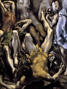 el greco | The Resurrection - detail 1 by El Greco, 1596-1600