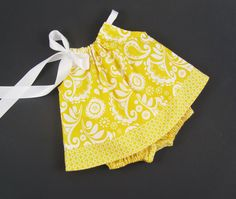 NEW   Infant Dress and Bloomers Outfit  Sunny Yellow by dreambirds